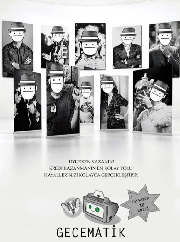 Uyan! isimli fankitin arka kapağında yer alan gecematik reklamı