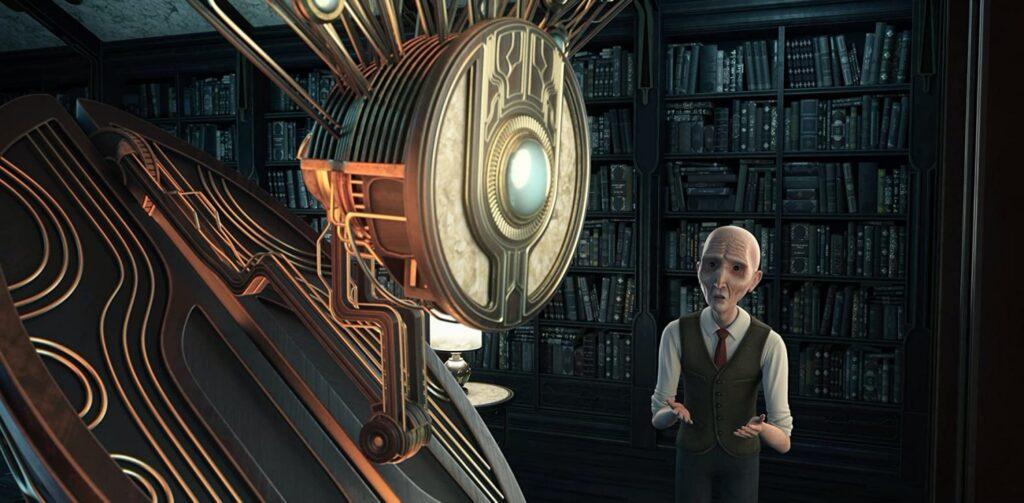Gökalp Gönen'in kısa filmi Avarya görseli. Robot ve Yaşlı adam.
