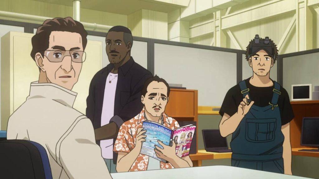 Space Brothers animesinde Nanba Mutta ile Ay aracı hazırlayan ekibin ilk Ghostbusters ekinine benzemesi.