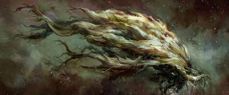 Hyperion kitabında hacıların yolculuk yaptığı ağaç gemi.
