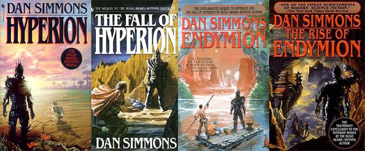 Hyperion serisinin diğer kitap kapakları.
